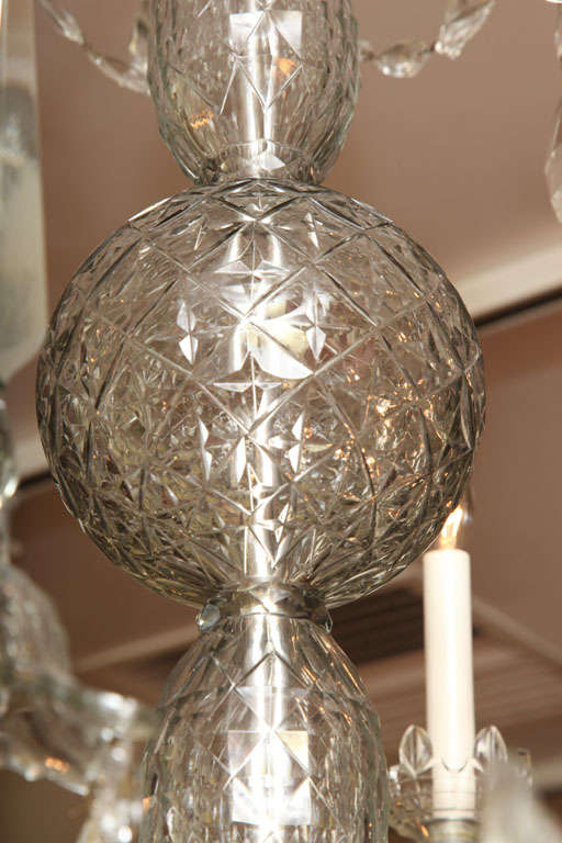 Georgian cut glass chandelier c.1770 6