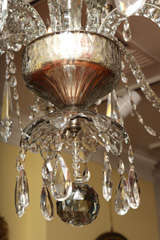 Georgian cut glass chandelier c.1770 image 7