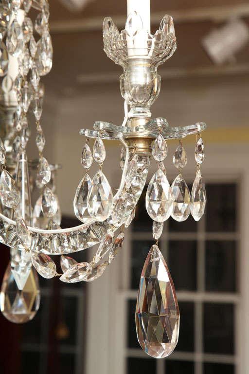 Georgian cut glass chandelier c.1770 8