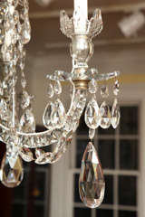 Georgian cut glass chandelier c.1770 image 8
