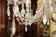 Georgian cut glass chandelier c.1770 image 9