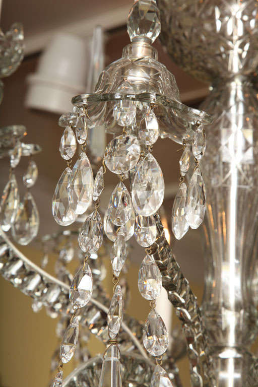 Georgian cut glass chandelier c.1770 10