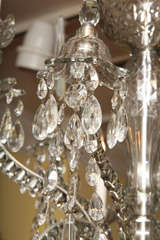 Georgian cut glass chandelier c.1770 image 10