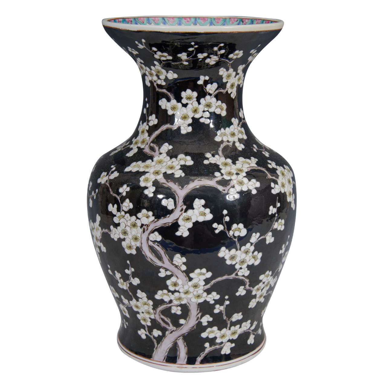 19th century chinese vase with cherry blossoms at 1stdibs for Oriental vase and furniture