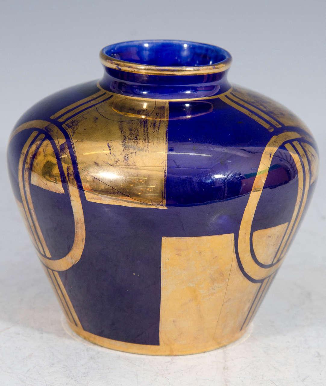 art deco cobalt blue sevres vase at 1stdibs. Black Bedroom Furniture Sets. Home Design Ideas