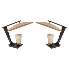 Pair of California Modern Table Lamps