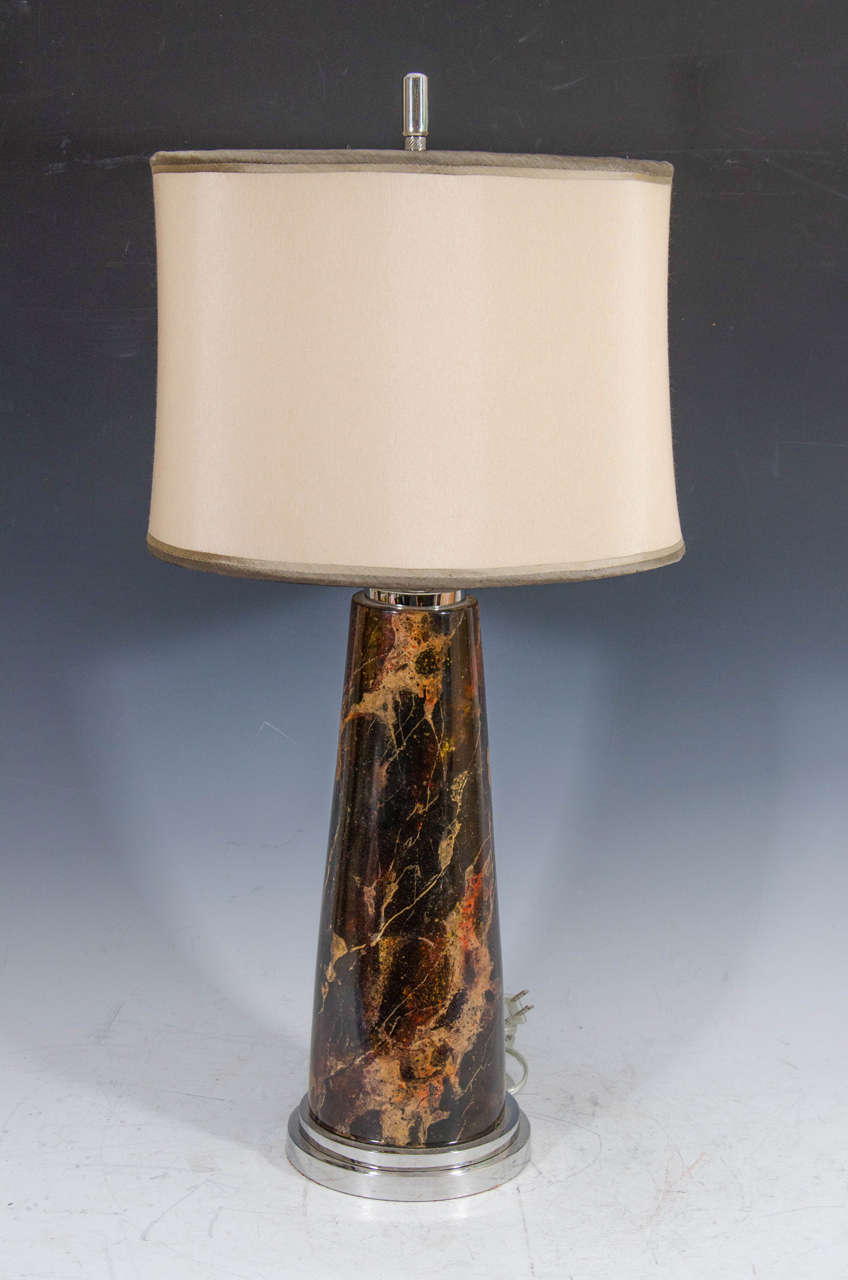 tortoise lighting. A Contemporary Table Lamp In Faux Tortoise-shell With Chrome Base, And Tortoise Lighting I