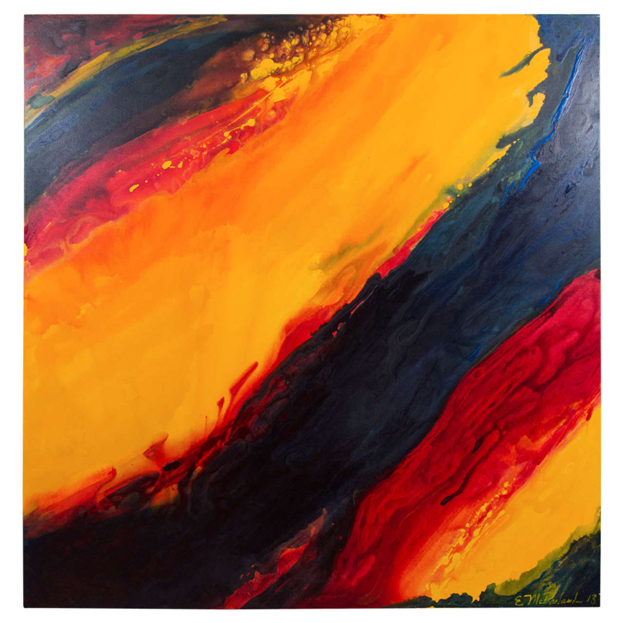 21st Century Original Oil on Canvas Abstract Painting by Erin McParland
