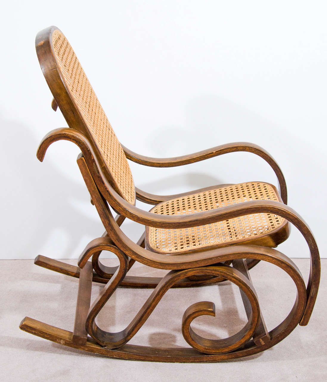Midcentury child s bentwood rocking chair for sale at 1stdibs