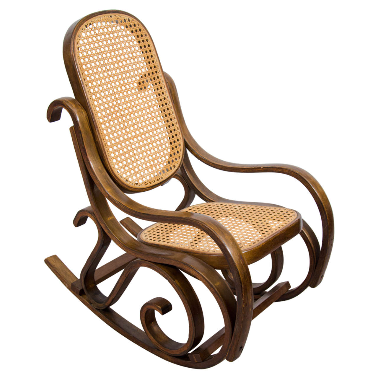 midcentury child 39 s bentwood rocking chair for sale at 1stdibs. Black Bedroom Furniture Sets. Home Design Ideas