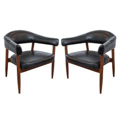 Midcentury Pair of Danish Modern Occasional Chairs