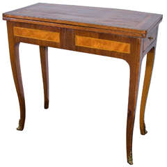 Louis XVI Style Marquetry Game Table
