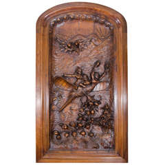 19th Century Hand-Carved French Wall Plaque