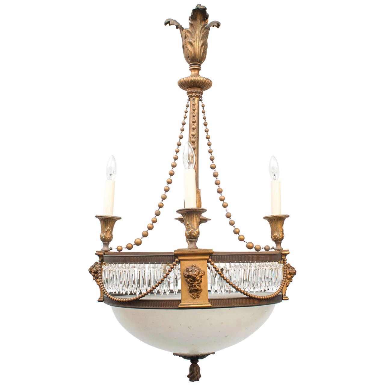 Edwardian Eight-Light Chandelier