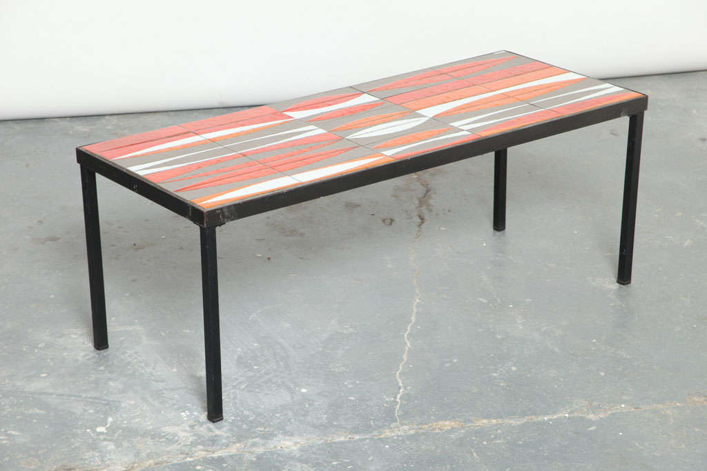 Coffee table designed by Roger Capron utilizing his