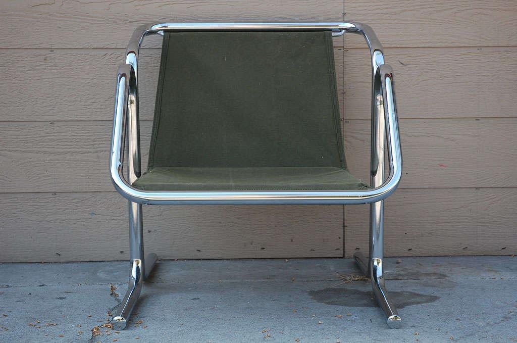 Vintage Jerry Johnson Chrome Sling Chair 3