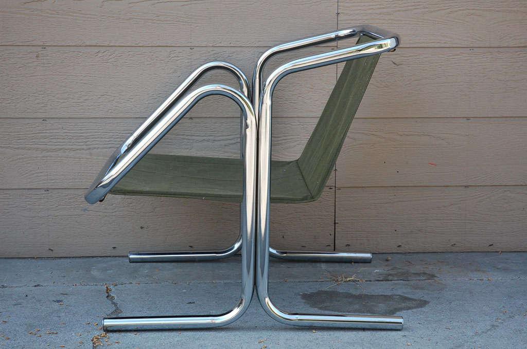 Vintage Jerry Johnson Chrome Sling Chair 5