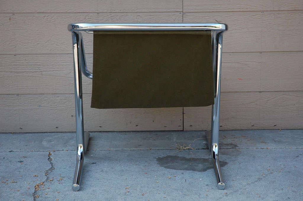 Vintage Jerry Johnson Chrome Sling Chair 8