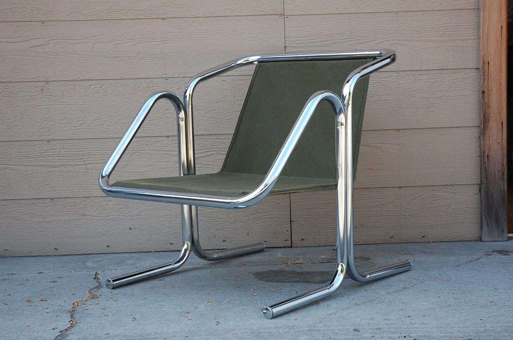 Vintage Jerry Johnson Chrome Sling Chair 2