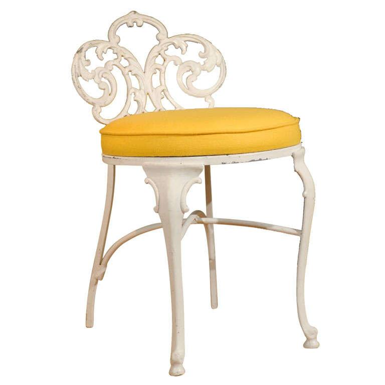 Metal Vanity Chair At 1stdibs
