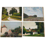 Set of Four French Landscapes