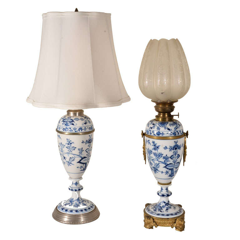 meissen oil lamps for sale at 1stdibs. Black Bedroom Furniture Sets. Home Design Ideas