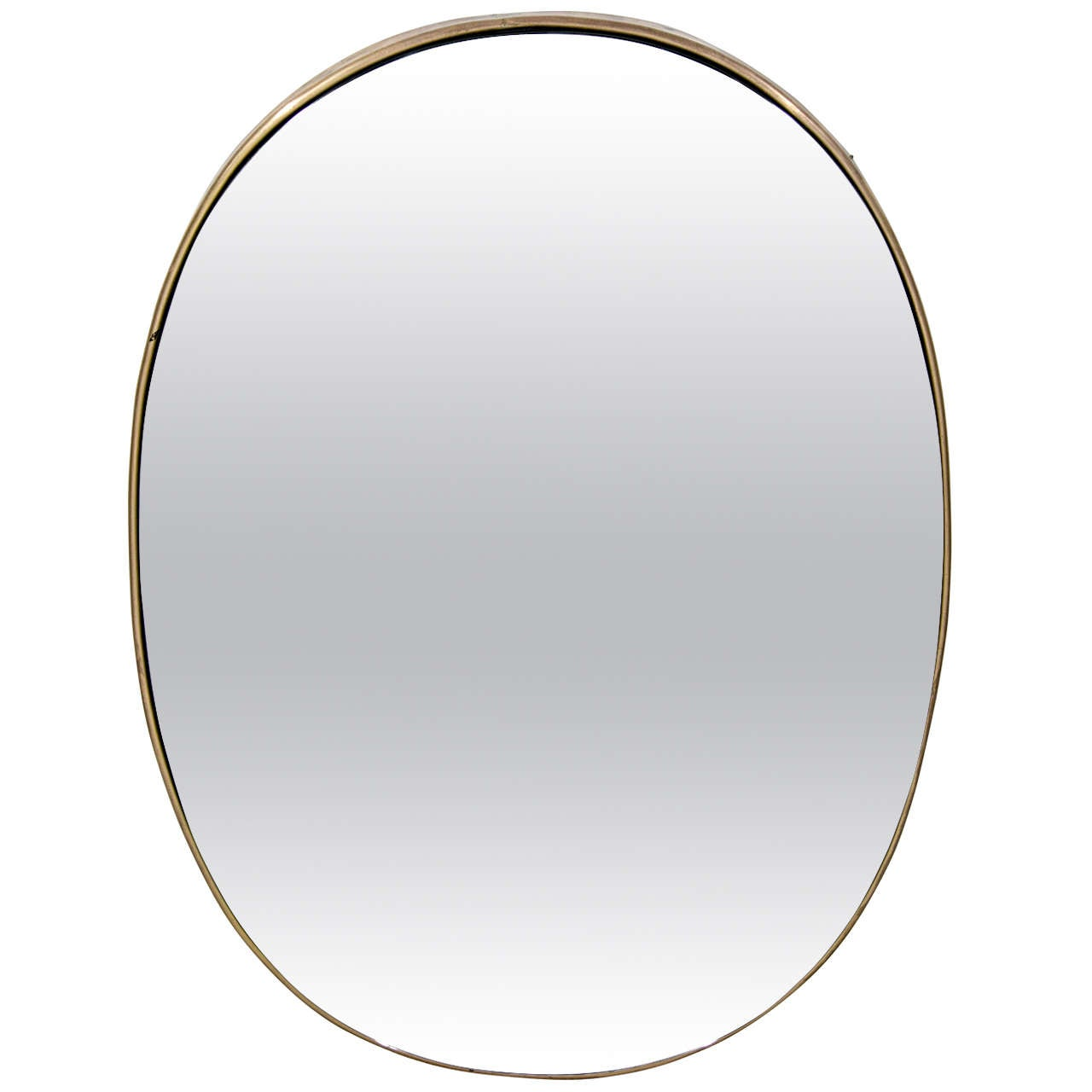 Style of fontana arte oval mirror with brass frame at 1stdibs for Mirror frame styles