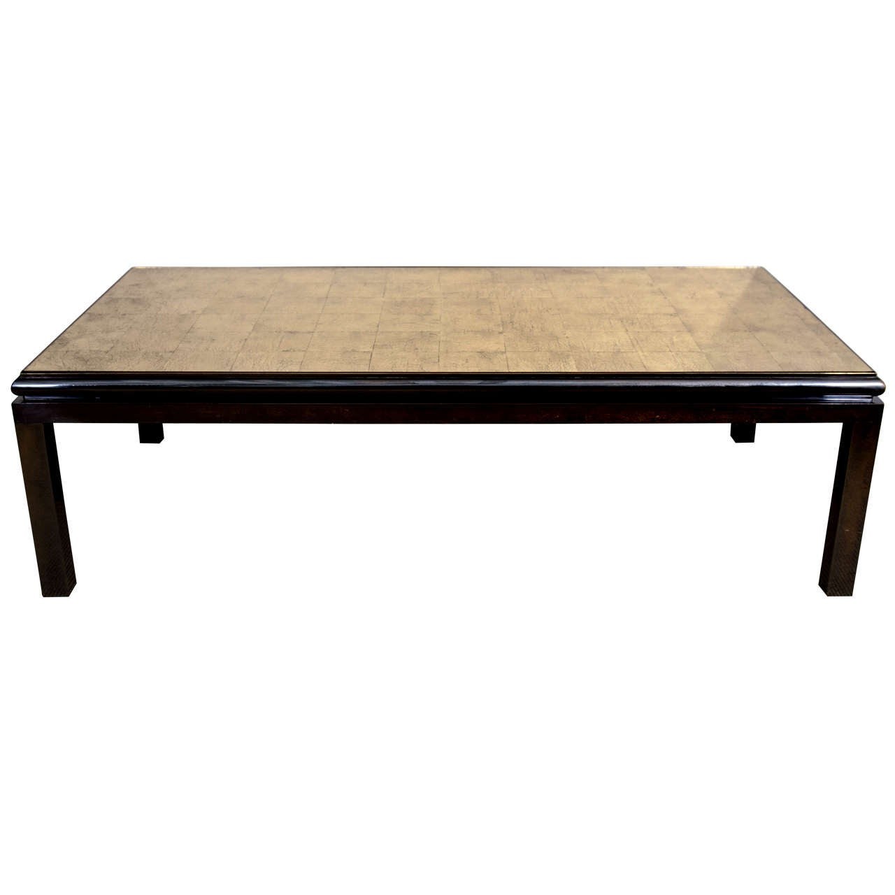 A Maison Jansen Verre Eglomise Top And Gun Metal Base Coffee Table At 1stdibs