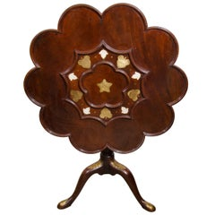 George I Brass Inlaid Supper Table
