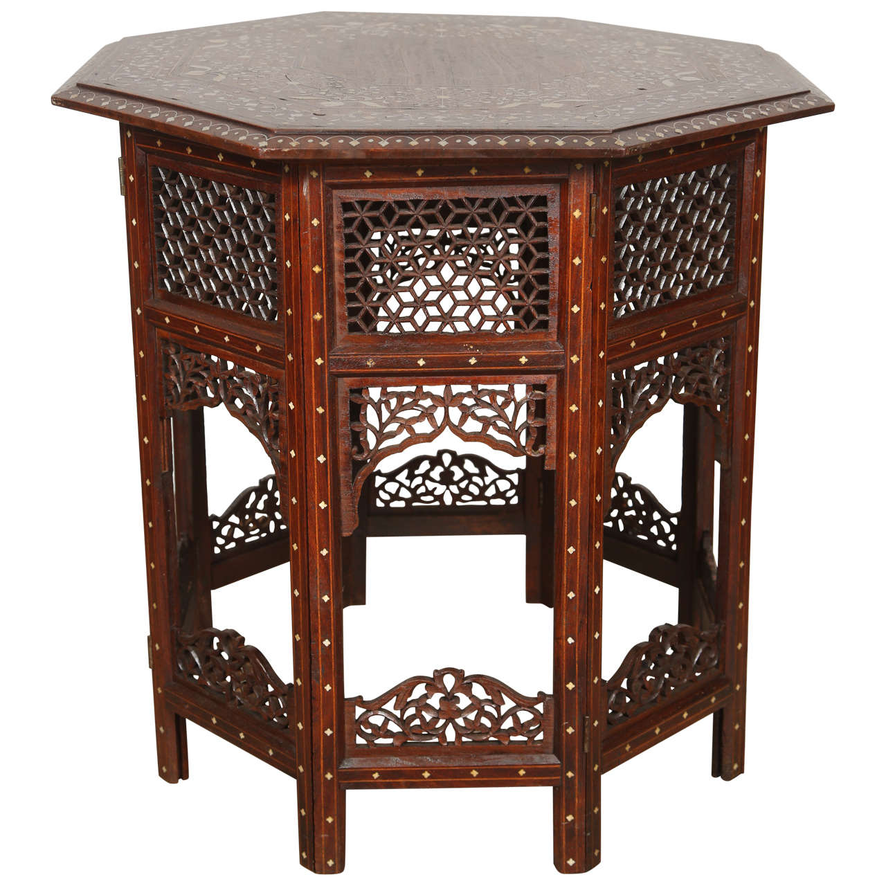 19th century anglo indian rosewood ivory inlaid side table at 1stdibs 19th century anglo indian rosewood ivory inlaid side table 1 geotapseo Choice Image