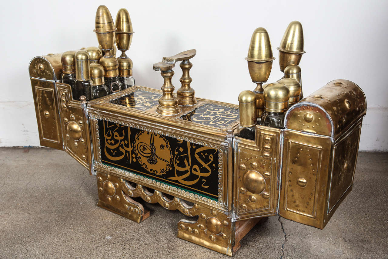 Amazing photo of Turkish Brass Shoe Shine Decorative Stand at 1stdibs with #664828 color and 1280x853 pixels