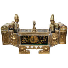 Turkish Brass Valet Shoe Shine Decorative Stand