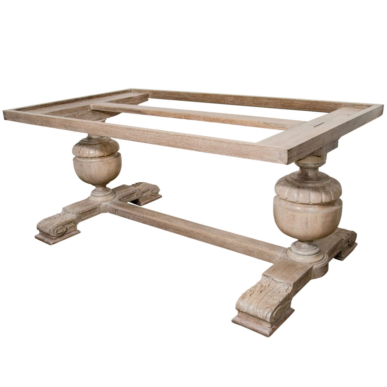 Limed Oak Table Base At 1stdibs