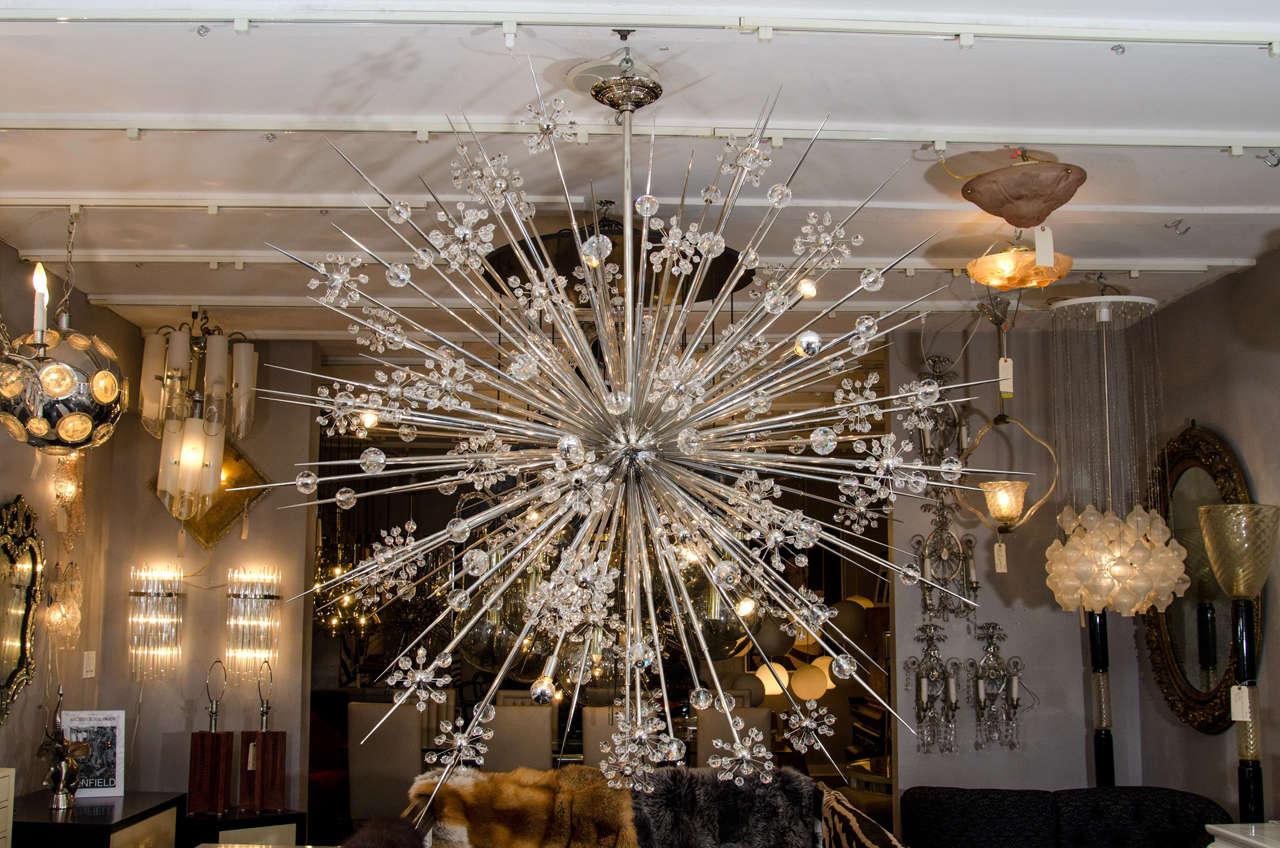 Huge Custom Crystal Starburst Sputnik Chandelier For Sale At 1stdibs