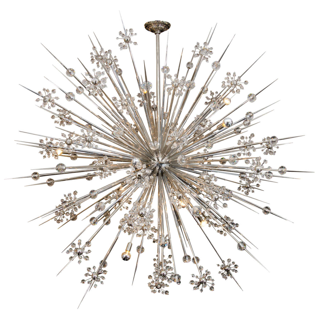 huge custom crystal starburst sputnik chandelier . huge custom crystal starburst sputnik chandelier for sale at stdibs