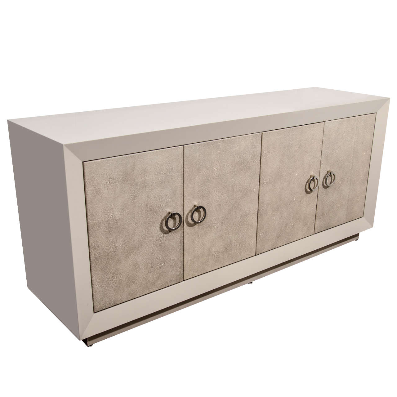 Custom Lacquer And Faux Shagreen Sideboard 1