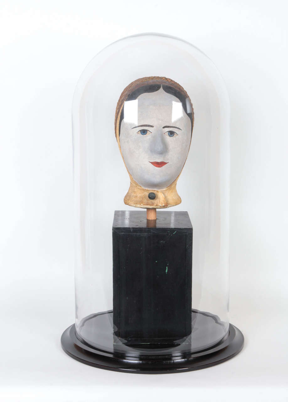 This Surreal-looking object was made as a wig stand in mid-19th century France by Louis Danjard. It was probably in the legendary Folk Art collection of the important American sculptor Elie Nadelman.  It was owned by his friend and patron, A.