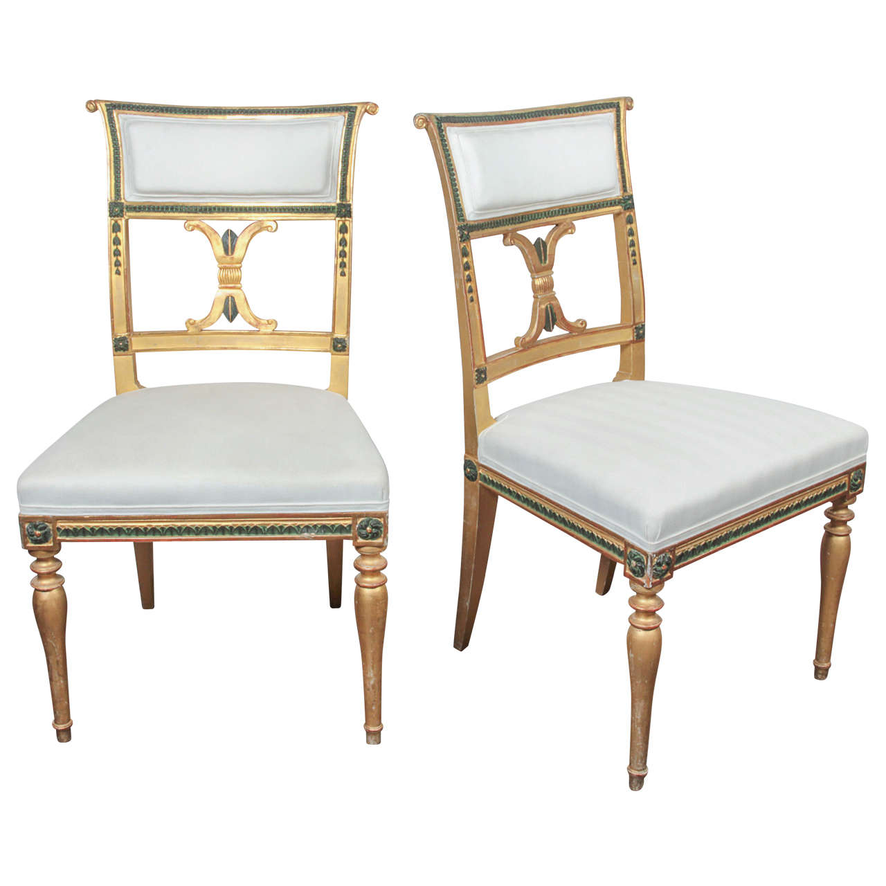 Pair Of Swedish Gustavian Chairs By Melchior Lundberg 1