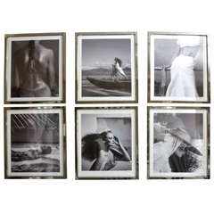 Fashion Photographs by Willie Christie in Silvered Metal Frames