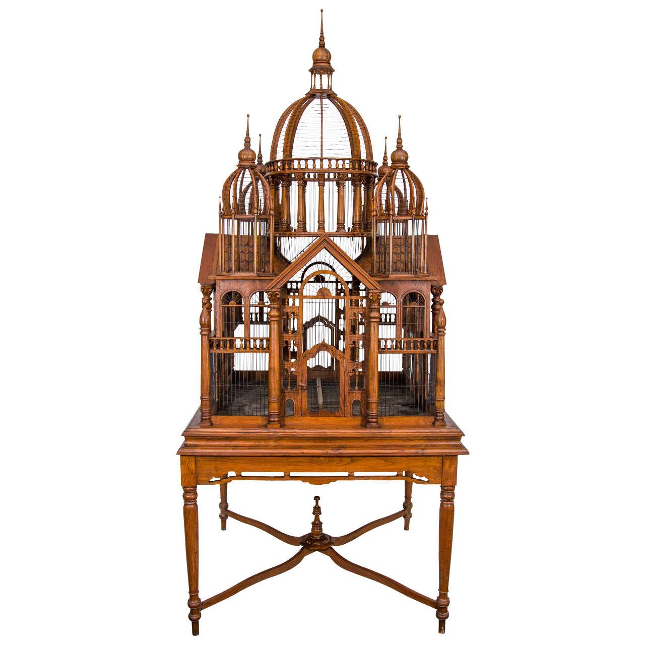 monumental bird cage on stand at 1stdibs. Black Bedroom Furniture Sets. Home Design Ideas