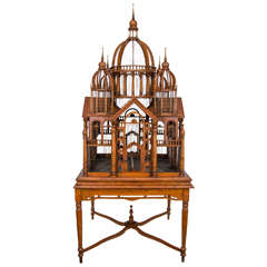 Monumental Bird Cage on Stand