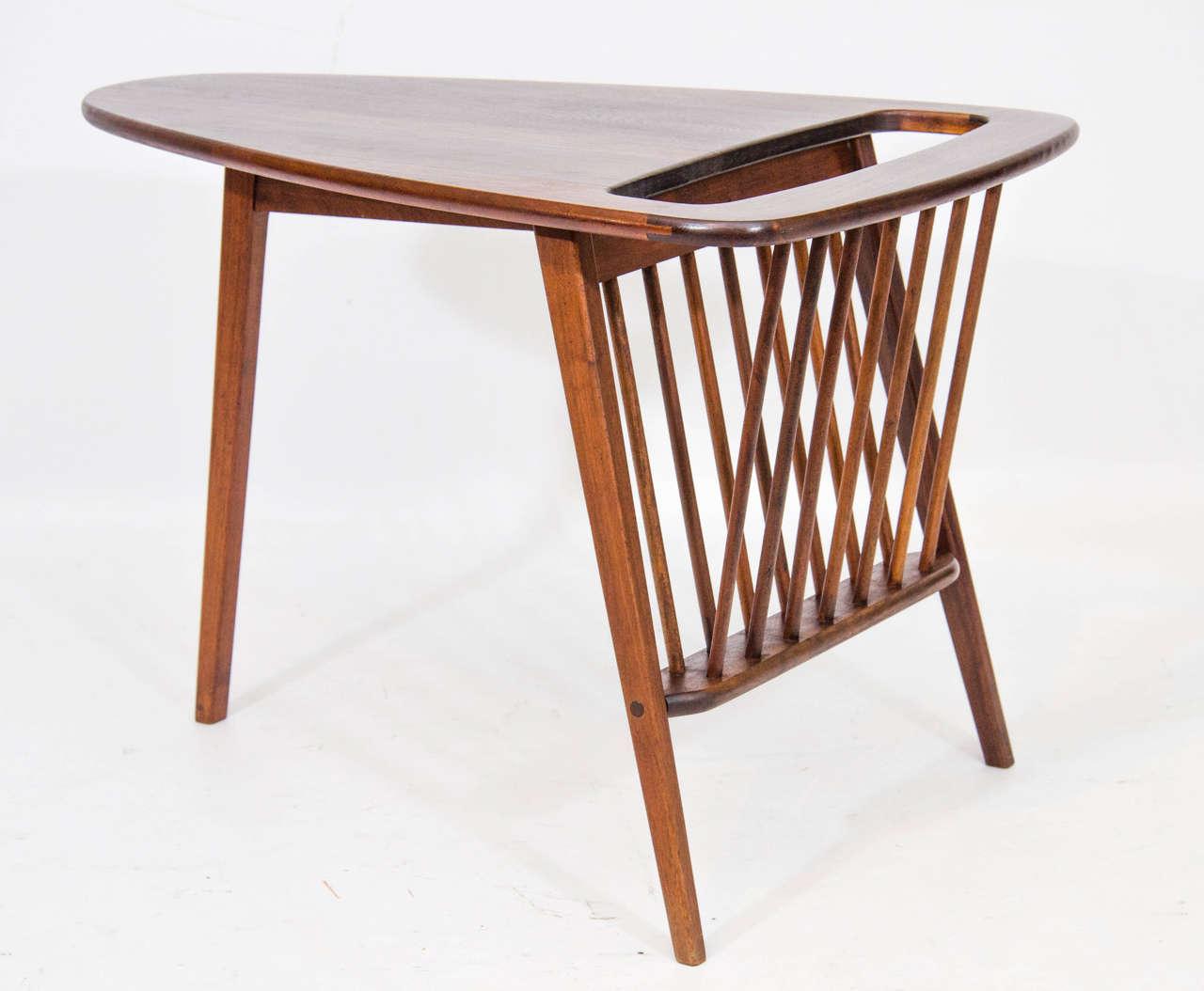 Side Table Or Magazine Rack By Arthur Umanoff At 1stdibs