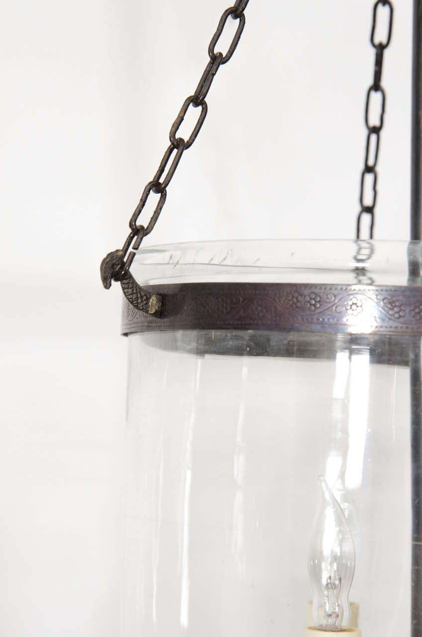 Small Bell Jar Light With Clear Glass At 1stdibs