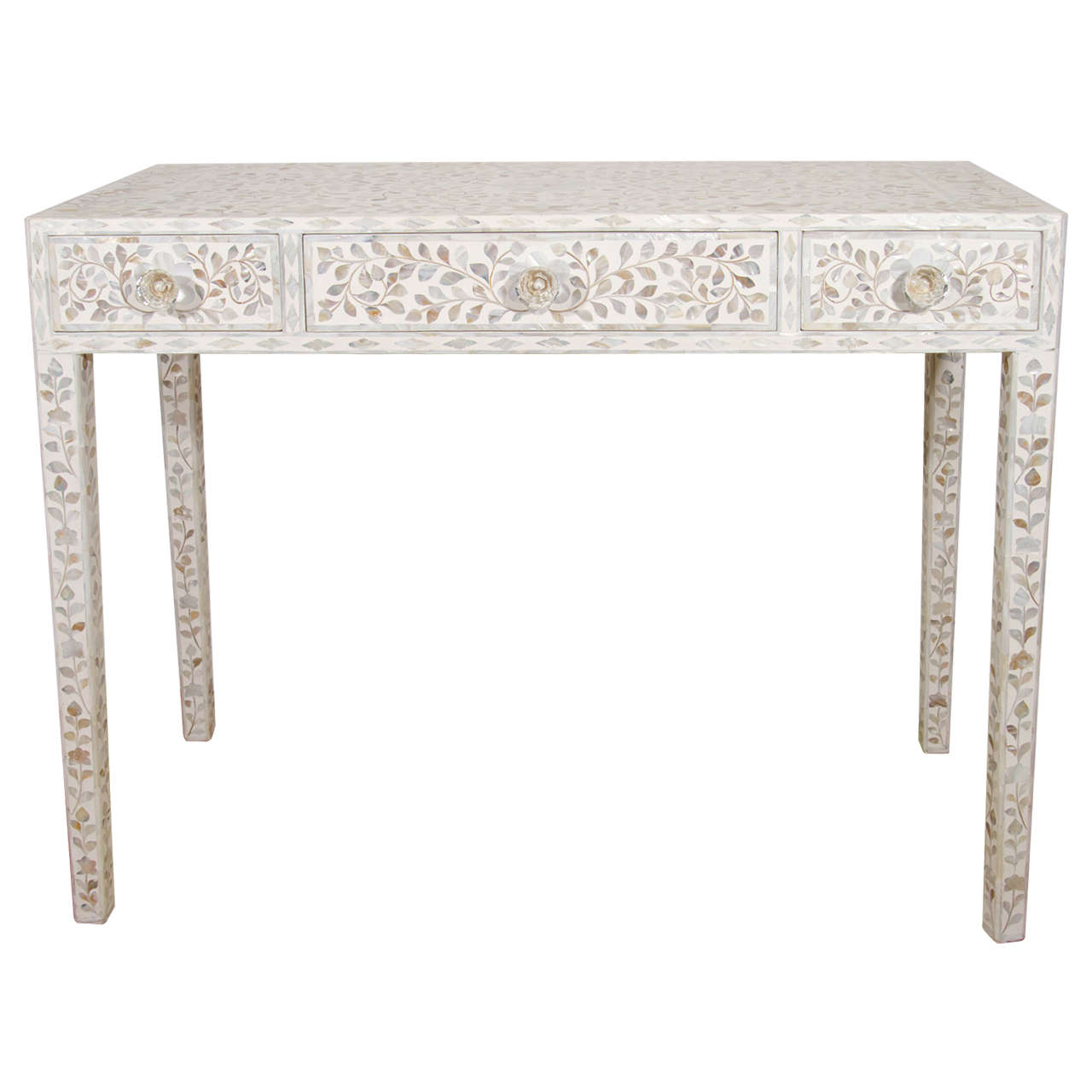 Indian mother of pearl inlaid desk at 1stdibs geotapseo Image collections