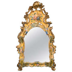 Italian Venetian Lacquered Mirror, 18th Century