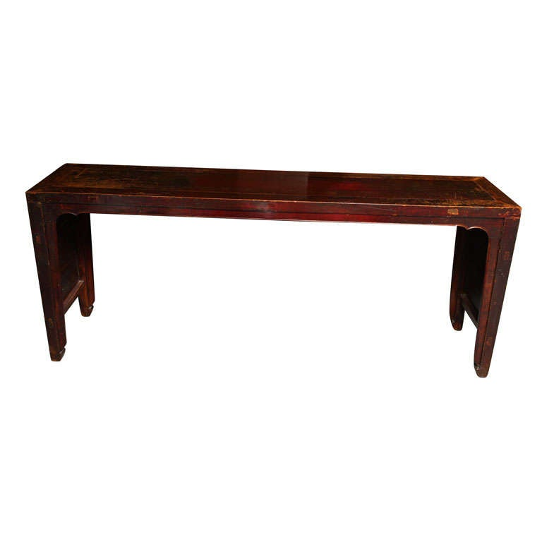 Elmwood Shandong Long Console Table with 19th Century Original Finish