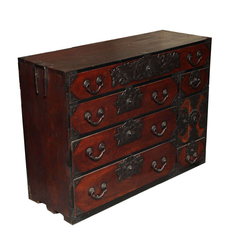 Japanese sendai tansu cabinet at 1stdibs for Asian furniture nyc