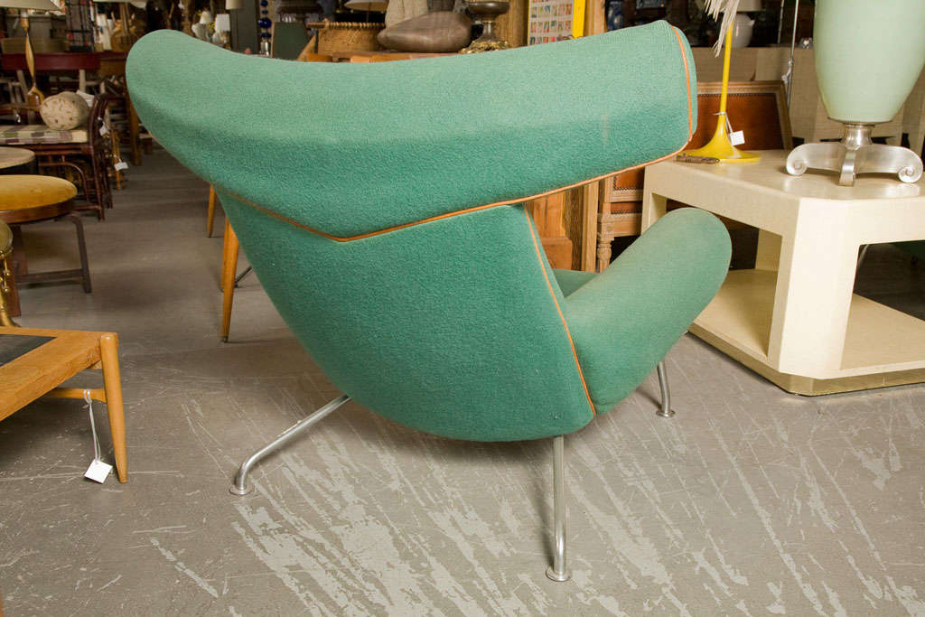 Hans Wegner Ox Chair And Ottoman For Sale At 1stdibs