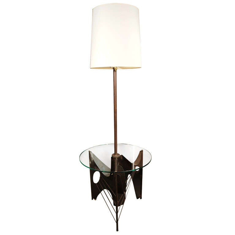 Laurel Studios Brutal Glass End Table Lamp