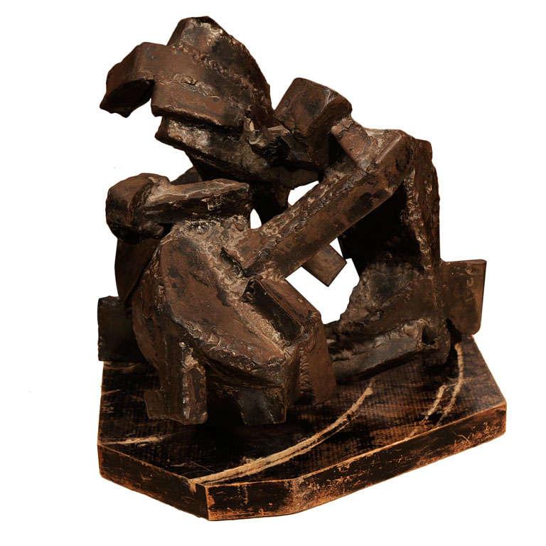 1970s Brutalist Steel Sculpture